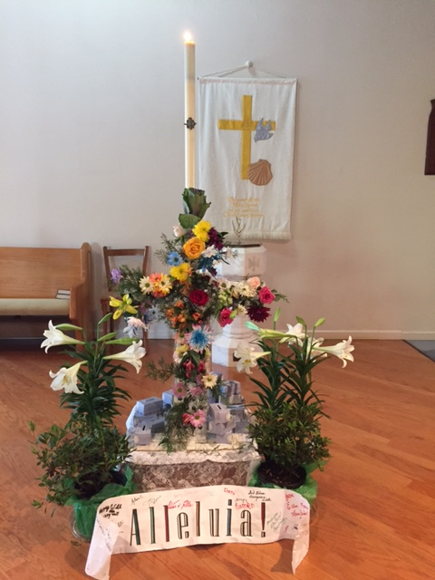Photo of Cross decorated for Easter